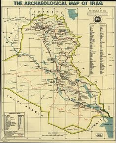 The Archaeological Map Of Iraq 1967