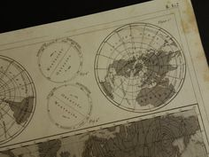 EARTH'S MAGNETIC FIELD Antique worldmap  160 by DecorativePrints