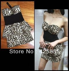 Buy Nightclubs with leopard grain cultivate one's morality show thin strapless dress with necessary package hip sexy dress  from Reliable dress suppliers on Log Cabin store $2.58 - 20.56