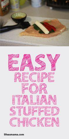 Easy Recipe For Italian Stuffed Chicken