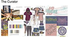 The Curator Active colour trend board by Mudpie for Pantone colour competition