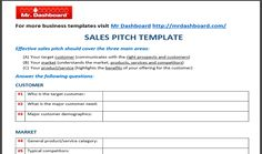 Download Free Sales Pitch Template Samples and Examples