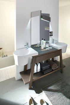 Bathroom furniture set CANESTRO - COMPOSITION C04 by NOVELLO | #design Gian Vittorio Plazzogna