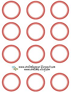 On A Limb Paper: Circle Stickers : Free Download