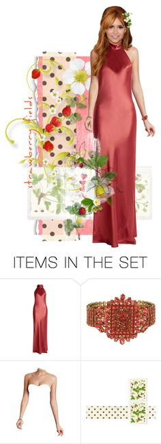 """""""Strawberry Fields"""" by kbarkstyle ❤ liked on Polyvore featuring art"""