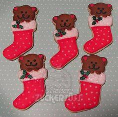 Bears in xmas stockings
