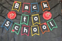 Back to School Banner by DotsandDoilies on Etsy, $15.00