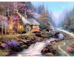Thomas Kinkade Twilight Cottage