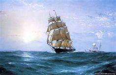 picture «The old sailing ship Young America»