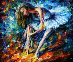 Leonid Afremov, oil on canvas, palette knife, buy original paintings, art, famous artist, biography, official page, online gallery, large artwork, ballet, ballerina, girl, music, dance, white dress, grace