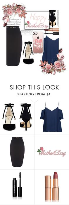 """""""Happy Mother's Day!"""" by ashaleethornt ❤ liked on Polyvore featuring Nine West, Haute Hippie, Bobbi Brown Cosmetics, Charlotte Tilbury and Casetify"""