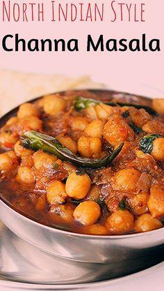 Chana Masala recipe-Chole Masala recipe-Indian food recipes Chana Masala recipe-Chole Masala recipe-Indian food recipes-North Indian chana masala gravy-how to Vegetarian Bean Recipes, Garbanzo Bean Recipes, Cooking Garbanzo Beans, Chickpea Recipes, Beans Recipes, Puri Recipes, Indian Food Recipes, Diet Recipes, Delicious Recipes