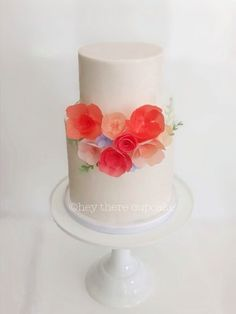 Wafer paper (rice paper) flowers www.steviauble.com