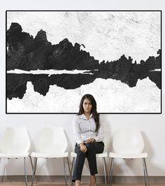 Paesaggio arte astratto muro parete extra-large di ArtCanvasShop