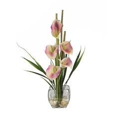 108 best artificial flowers in acrylic water images on pinterest this soft pink calla lily silk arrangement is so sweet and pretty for your decor and mightylinksfo