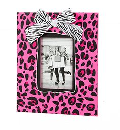 Wooden 4x6 Picture Frame Pink Leopard >>> Want to know more, click on the image.