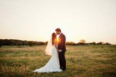 sunset bride and groom | the milestone aubrey mansion