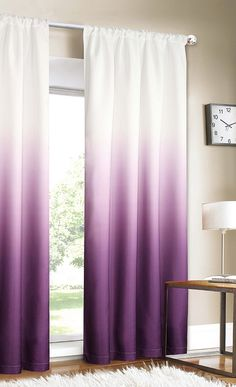 Purple gradients curtains would look cute in a modern nursery