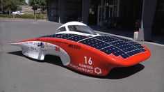 The car, called Luminos, The car's batteries have enough charge to take the car 150 to 200 miles when sunlight doesn't provide enough power, he said.