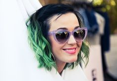 slime green... love it with added touch of violet sunnies