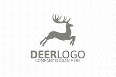 Deer Logo - $250 (negotiable) http://www.stronglogos.com/product/deer-logo-0 #logo #design #sale #deer #shelter #preserve  #hunting #equipment #instructor #running