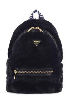 Oversized Fluffy Pink Fur Joyrich Backpack Brand New