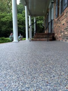 Resurface old concrete with pebble stone in one day...Amazing ...