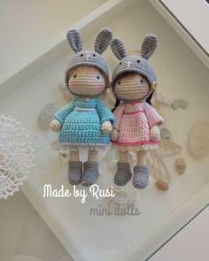 mini dolls #crochet #crochetdoll #amigurumi #amigurumidoll #minudoll #madebyrusi. #rusidolls