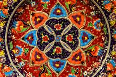 Close up of a Turkish plate.