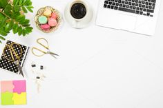 Feminine office desk workplace by LiliGraphie on @creativemarket