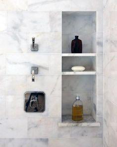 Bathroom Shower Niches and Shelves top 70 Best Shower Niche Ideas Recessed Shelf Designs Bathroom Niche, Master Bathroom Shower, Shower Niche, Small Bathroom, Bathroom Ideas, Bathroom Hacks, Bathroom Remodeling, Bathroom Showers, Bathroom Makeovers