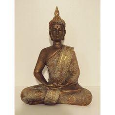 Boeddha Thais bronskleurig 27 cm hoog