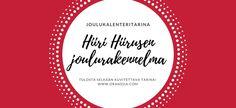 Hiiri Hiirusen joulukalenteritarina 2017 – tulosta ja hyödynnä! – Oranssia Christmas Calendar, Merry Xmas