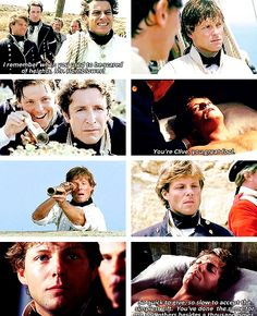 Horatio Hornblower. I need to rewatch these.