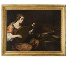 Astolfo Petrazzi (1579-1665)  Suonatrice di liuto  Pinacoteca Nazionale - Siena