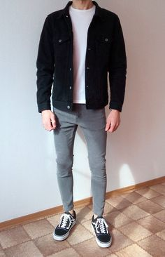 vans old skool skinny jeans boys guys outfit Stylish Mens Outfits, Casual Outfits, Men Casual, Fashion Outfits, Stylish Clothes, Stylish Menswear, Men's Fashion, Guy Outfits, Man Outfit