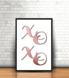 XoXo, PRINTED POSTER, hugs and kisses, rose gold foil, diamond, digital designs, rose gold wall decoration, office wall art Fine Paper, Paper Art, Gold Wall Decor, Gold Walls, Office Wall Art, Rose Gold Foil, Create Space, Make Design, Art Market