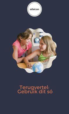 Terugvertel: wanneer leerders in hulle eie woorde vertel wat hulle kan onthou en verstaan oor die leerinhoud waarvan hulle so pas gehoor het. Afrikaans, Hoe, Movie Posters, Film Poster, Billboard, Film Posters