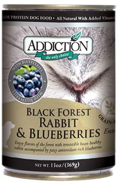 Black Forest Rabbit and Blueberries- Dog Food (12/13.8 Ounce Cans) >>> See this great image  : Dog food types