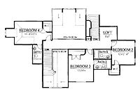 Home Plans HOMEPW25529 - 4,012 Square Feet, 4 Bedroom 4 Bathroom French Country Home with 2 Garage Bays