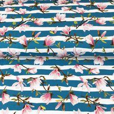 Úplet Painted stripe flower aqua digital print Paint Stripes, Digital Prints, Aqua, Quilts, Abstract, Artwork, Flowers, Fingerprints, Summary