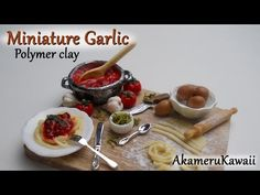 Miniature Garlic - Polymer clay tutorial - YouTube