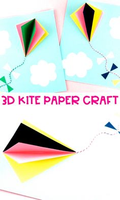 Summer Crafts For Kids, Summer Kids, Hot Air Balloon, Kite, Balloons, Paper Crafts, Colorful, Easy, Trends