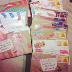 mail art using washi tapes ... I think I need to buy me some of that tape :)