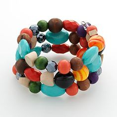 colorful bauble bracelet