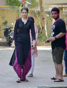 Anushka Sharma at Anurag Kashyap's Holi bash. #Bollywood #Fashion #Style #Beauty #Holi