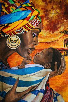 African Wall Art, African American Artwork, African Artwork, African Art Paintings, Black Art Painting, Black Artwork, Black Love Art, Black Girl Art, Easy Canvas Art