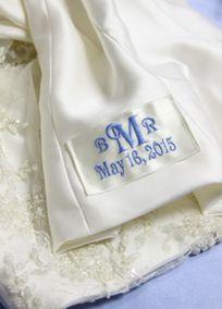 Something blue inside wedding dress #dbbridalstyle