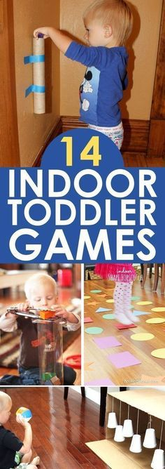 TODDLER ACTIVITIES: These indoor toddler games are great to have on hand for any day where you just need an easy toddler activity. With these 14 toddler games, youll be ready to entertain your toddler no matter why you want to stay indoors! Toddler Learning Activities, Sensory Activities, Infant Activities, Children Activities, Activities With Toddlers, Games For Children, Activity Games For Kids, Easy Games For Kids, Rainy Day Activities For Kids