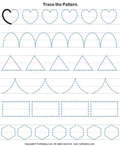 Check out Turtle Diary's large collection of Shapes worksheets for preschool. Make learning fun and easy with these great learning tools. Shape Worksheets For Preschool, Shape Tracing Worksheets, Preschool Writing, Numbers Preschool, Kindergarten Math Worksheets, Homeschool Kindergarten, Preschool Learning Activities, Kids Writing, Teaching Cursive Writing